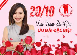 Nha khoa Đại Nam Sài Gòn ưu đãi đặc biệt nhân ngày 20/10